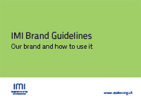 IMI brand guidelines